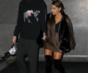 ariana grande, celebrity, and couple image