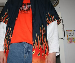 boy, fashion, and fire image