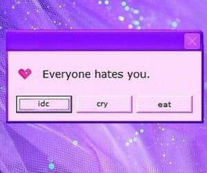purple, hate, and tumblr image