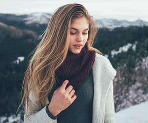 blonde, snow, and winter image