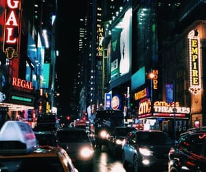 buildings, lights, and newyork image