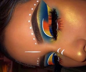 art, colorful, and eyebrows image