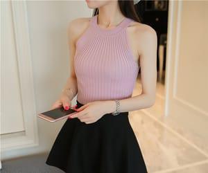 asian fashion, halter, and moda image