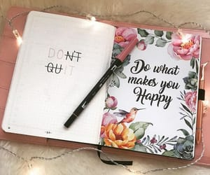 happy, planner, and stationery image