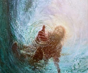Christ, sea, and water image
