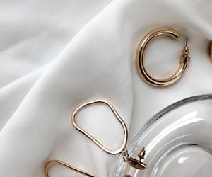 beauty, earrings, and gold image