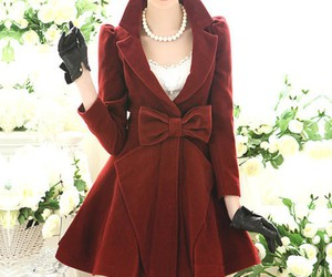 coat, red, and style image
