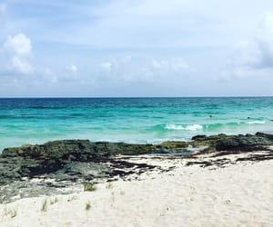 azul, beach, and blue image