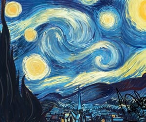 starry night and van gogh image