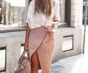 casual, pink, and fashion image
