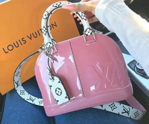 Louis Vuitton, bag, and pink image
