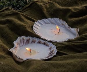 candle, sea, and sea shell image