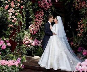 wedding, miranda kerr, and flowers image