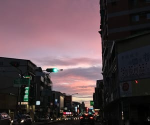 pink, road, and cloudlover image