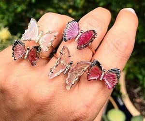 bague, butterfly, and rings image