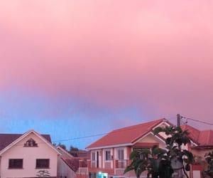 pink, wallpaper, and pink skies image