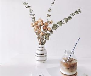 book, boquet, and caffeine image