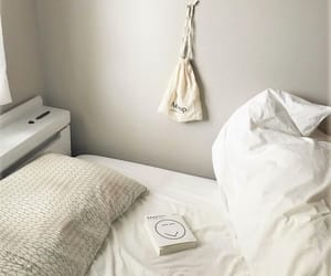 bed sheets, indoors, and interior design image