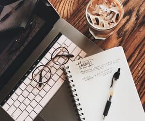 coffee, iced coffee, and study image