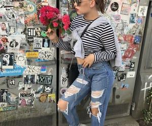 flower, girl, and summer image
