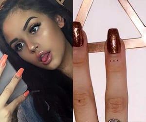 celebrity, dots, and finger image