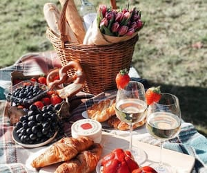 picnic, food, and wine image
