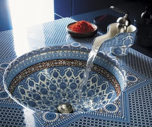 blue, bathroom, and morocco image