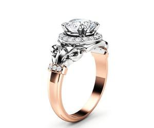 diamonds, moissanite ring, and moissanite image