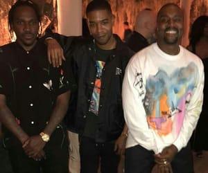 kanye west, kid cudi, and rap image