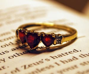 ring, red, and girl image
