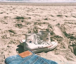 beach, summer, and converse image