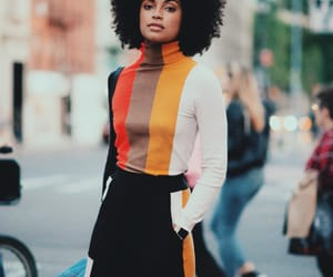 beauty, black women, and curly hair image
