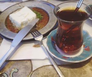ice cream, turkish tea, and kunefe image