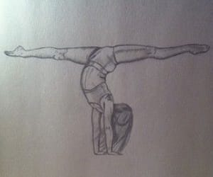 beauty, handstand, and splits image