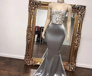 dress, fashion, and silver image