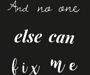 black and white, fix, and Lyrics image