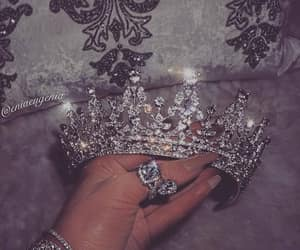 crown, diamond, and glitter image