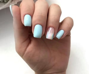 blue, manicure, and nails image
