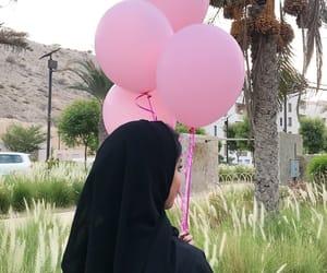 balloon, baloon, and hijab image