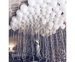 white, balloons, and wallpaper image