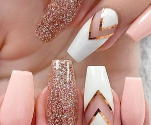 beautiful, design, and long nails image