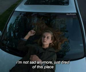 car, girl, and place image