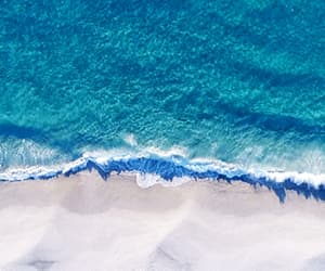 gif, beach, and blue image