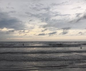 beach, clouds, and grey image