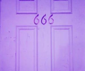 666, door, and grunge image