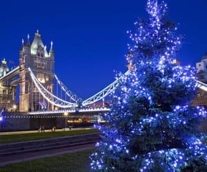 christmas, lights, and london image
