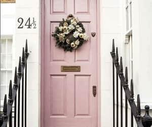 door, pink, and home image
