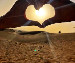 desert, Dubai, and heart image