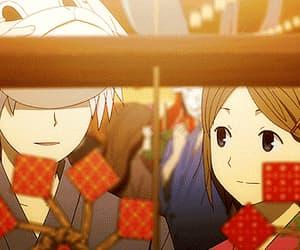 hotarubi no mori e, anime, and gif image