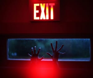 exit, hands, and neon image